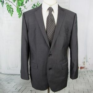 Hugo Boss men's size 44R suit jacket gray 2 button